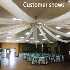 wedding drapery 2ftx32ft flat wedding ceiling drapery party decor wedding ceiling
