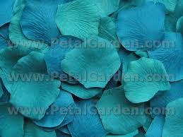 turquoise roses petal garden silk petals turquoise