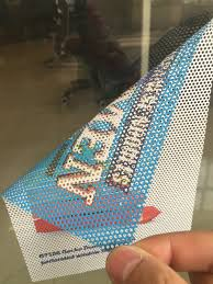 See Through Window Graphics Print On Adhesive Inside Mount One Way Vision See Through Window