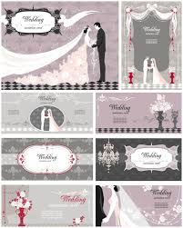 Wedding Invitation Card Free Download Elegant Decorative Wedding Invitation Cards Vector Vector