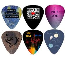 Cool Stocking Stuffers Unique Guitar Picks I Love You Valentines Sweet Heart I Pick You