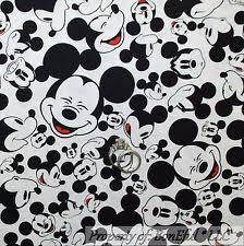mickey mouse fabric ebay