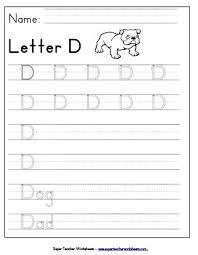 letter d worksheets recognize trace u0026 print