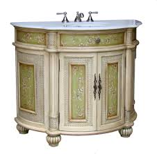 Painted Bathroom Cabinets adelina 41 inch antique hand painted bathroom vanity fully