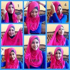 tutorial hijab pashmina kaos yang simple cara memakai jilbab pashmina kaos yang simple tetep cantik