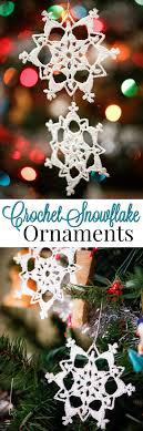 lace crochet snowflake ornament pattern