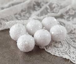 mini spun cotton snowballs miniature ornaments smile
