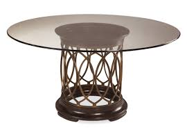 Glass Round Kitchen Table Furniture Extraordinary Round Glass Dining Table With Unique