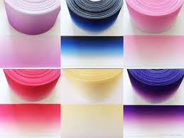 10 yard ombre grosgrain ribbon pink blue yellow and purple 75mm