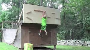backyard american ninja warrior course for kids youtube