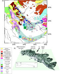 The Domain Map Fig 1 Structural Evolution Of Andros Cyclades Greece A Key