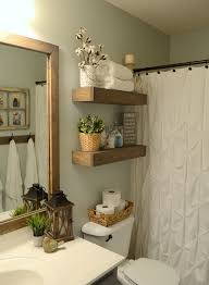 How To Decorate Floating Shelves Diy Rustic Wood Floating Shelves Thefrugalhoomemaker Com Wood