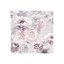 pink and grey pattern wallpaper graham brown fresco pink purple grey floral wallpaper