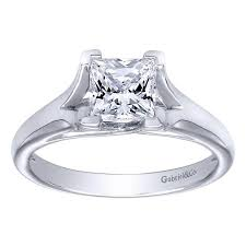 platinum princess cut engagement rings 14k white gold princess cut split shank solitaire