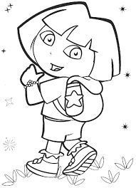 popular character free coloring activity dora the explorer with
