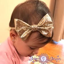 bow headband gold bow headband babygdesigns13