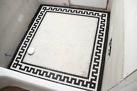 vintage mosaic tile border for the downstairs bathroom