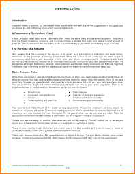 Sample Resume Format For Zoology Freshers by 8 How To Write A Cv For A First Job Musicre Sumed