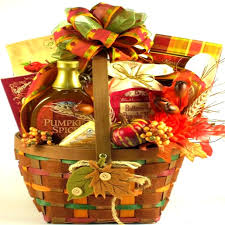 thanksgiving gift baskets autumn leaves breakfast basket