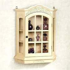 Wall Curio Cabinet With Glass Doors Curio Decor Idea Surprising Small Curio Cabinet With Glass Doors