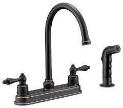 rustic kitchen faucets designers impressions 658847 rubbed bronze kitchen faucet with
