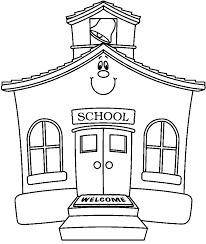 Coloring Page Of A School School House Coloring Page Vitlt Com by Coloring Page Of A School