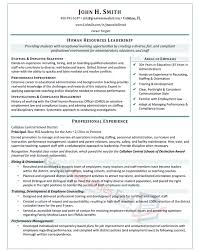Human Resource Resumes Resume Examples For Professionals Resume Example And Free Resume