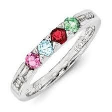 mothers rings white gold curved shank mothers birthstone ring choice of metals
