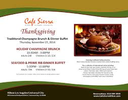 thanksgiving dinner universal city los angeles