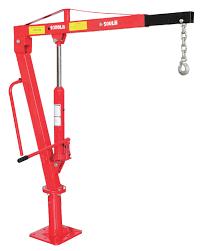 1000lbs pickup truck crane swivel base hydraulic lifting crane