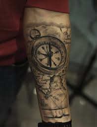World Map Tattoo by World Map And Compass Tattoos On Forearm Photos Pictures And