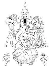 Strawberry Shortcake Princess Coloring Pages Strawberry Shortcake Princess Coloring Pages