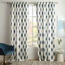 Purple Ikat Curtains Cotton Canvas Ikat Gem Curtains Set Of 2 Blue Teal West Elm