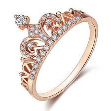 rings rose gold images Women crown rings tiara princess queen 18k rose gold jpg