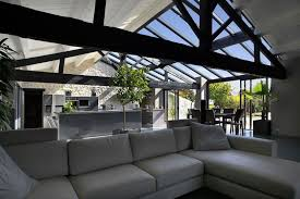 veranda cuisine photo veranda alu vigouroux armonia de vie avec cuisine salon