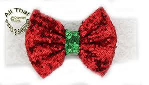 sequin headbands big bow christmas headbands baby white lace