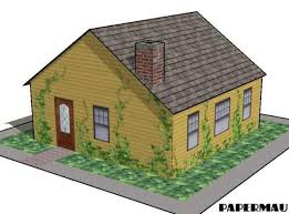 build a house free simple family house free building paper model http