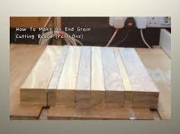 Diy End Grain End Table How To Make An End Grain Cutting Board 1