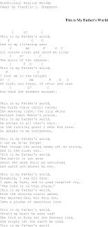 light of the world chords this is my father s world christian gospel song lyrics and chords