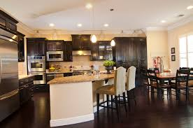 dark wood floors in kitchen wood flooring