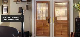 blinds shades u0026 shutters for french doors total window treatments