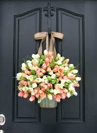 door wreaths farmhouse door wreath wreaths tulips farmhouse door wreaths