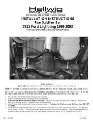 hellwig sway bar 7821 user manual 3 pages