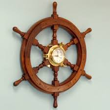 Nautical Decoration by Incredible Decoration Ship Wheel Wall Decor Shining Handcrafted