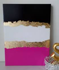 gold leaf home decor kate spade decoration inspired dorm acrylic canvas painting