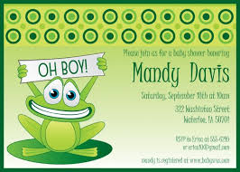 frog themed baby shower frog baby shower invitations diabetesmang info