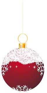 transparent red snowy christmas ball ornament clipart gallery