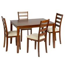 light oak upholstered dining table u0026 chairs set 5 piece