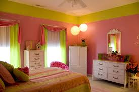 Girls Bedroom In Pink Yellow And Lime Green Green And Orange Bedroom Ideas