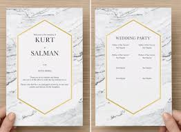 modern wedding programs fantastic and modern wedding programs and how to print them